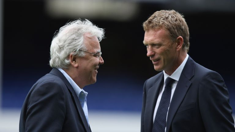 The manager spent 11 years at Everton and worked alongside chairman Bill Kenwright