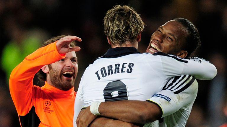 Former Chelsea duo Fernando Torres (C) and Didier Drogba (R) are two of Lukaku's inspirations