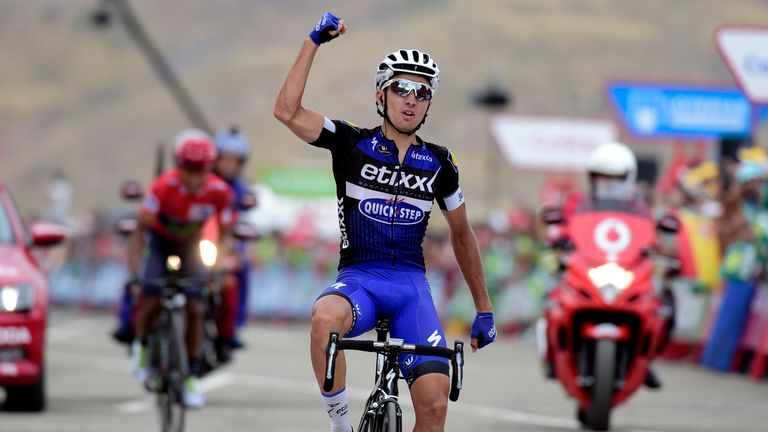 Gianluca Brambilla climbed to victory on stage 15