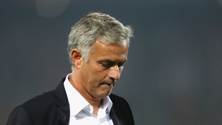 Jose Mourinho's Manchester United have lost three in a row