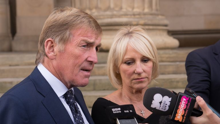 Kenny and Marina Dalglish were also recognised for their support of the families and other charity work