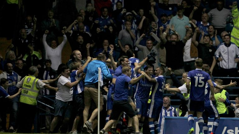 Celebrating in the crowd usually results in a yellow card