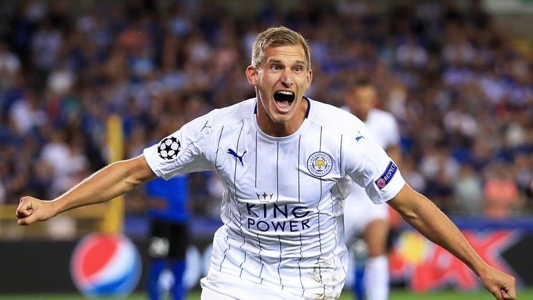 Marc Albrighton helped Leicester get off to a winning start in Bruges