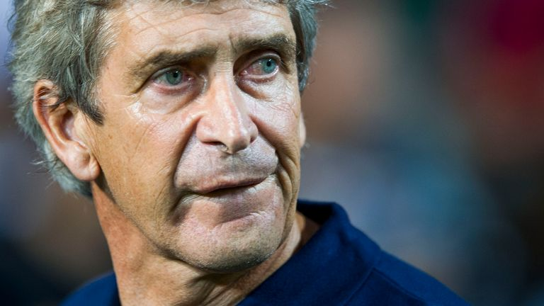 Pellegrini guided Manchester City to the Premier League title in 2014