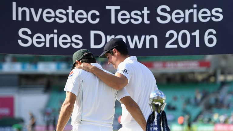 Misbah-ul-Haq and Alastair Cook shared the Test spoils at the Oval