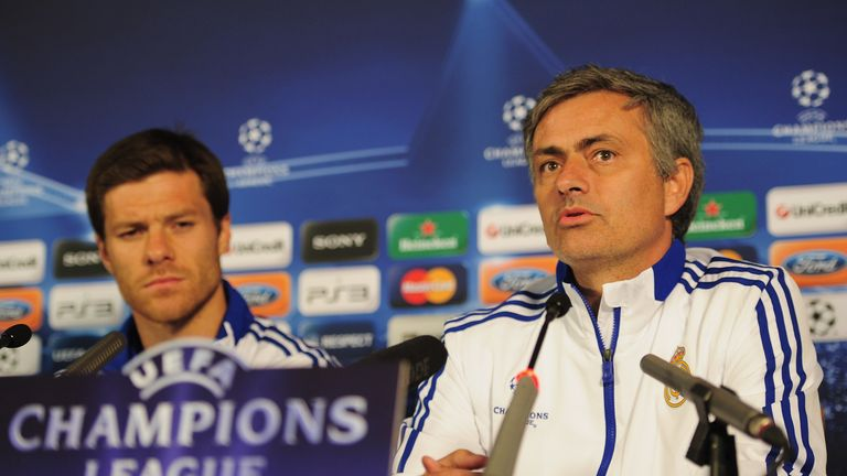 Alonso played under Mourinho for three years at Real Madrid