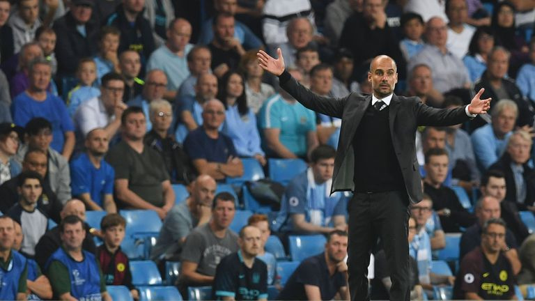 Pep Guardiola's Manchester City currently sit top of the Premier League