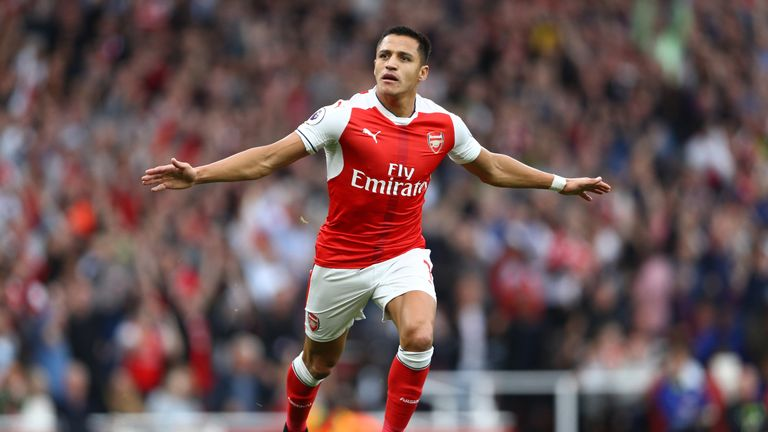 Alexis Sanchez has been a key figure so far this season playing up front for the Gunners