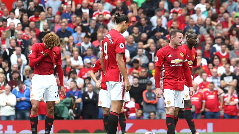 Man Utd were two goals down at Old Trafford before Zlatan Ibrahimovic pulled one back
