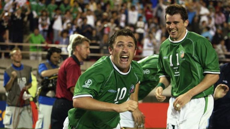 Keane scored Ireland's equaliser against Germany in the 2002 World Cup