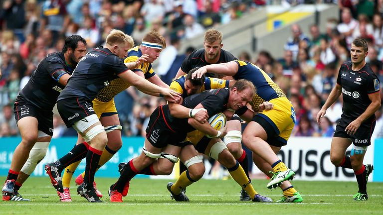 Schalk Burger scored a try on his Saracens debut