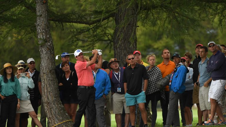 Scott Hend found trouble off the 18th tee twice