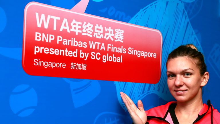 Simona Halep is heading for WTA Tour finals in Singapore