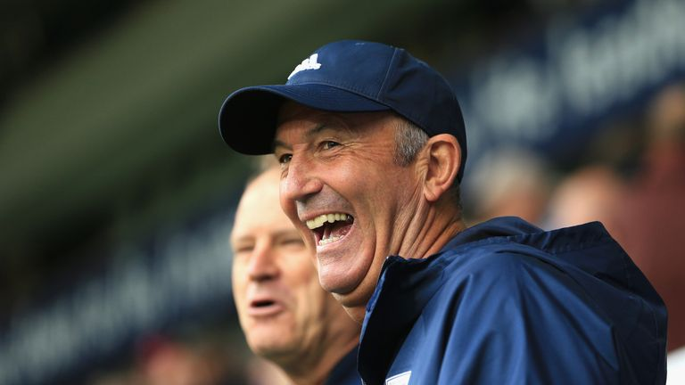 Tony Pulis has a good record against his old side having won four games against them including three with West Brom