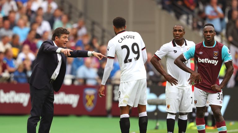 Mazzarri said he has worked a lot on turning Etienne Capoue into a goal scorer