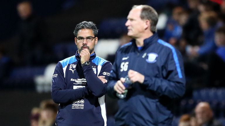 David Wagner (left) has seen his Huddersfield side stumble of late