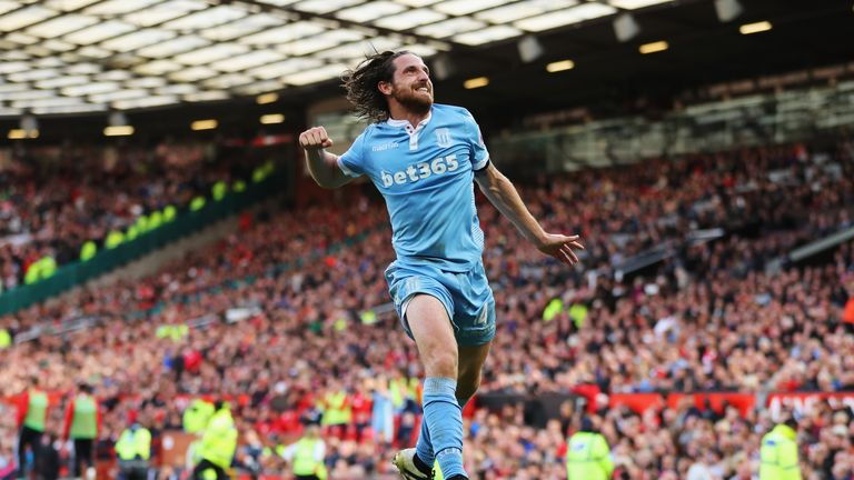 Joe Allen celebrates his strike