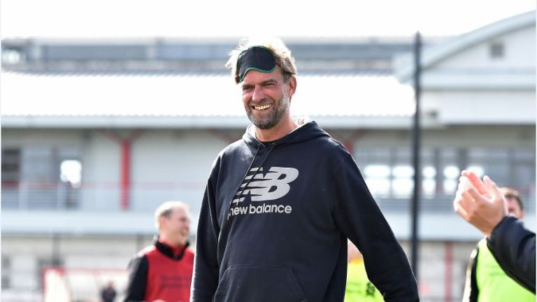 Klopp takes part in a  session to help raise awareness for Seeing is Believing