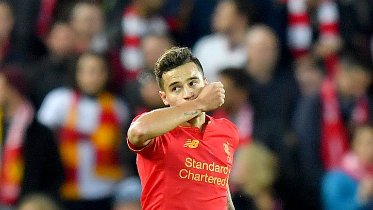Philippe Coutinho is expected to return to Liverpool's starting line-up against Crystal Palace