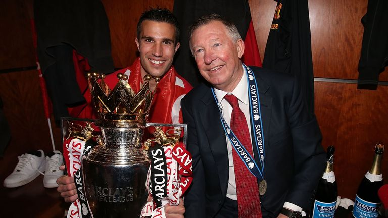 Robin van Persie (left) helped Manchester United to the Premier League title after leaving Arsenal