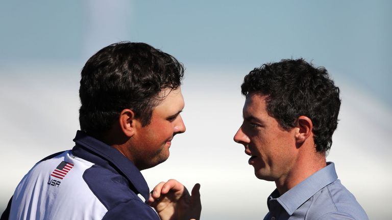 Patrick Reed edged out Rory McIlroy in a titanic battle in the opening singles