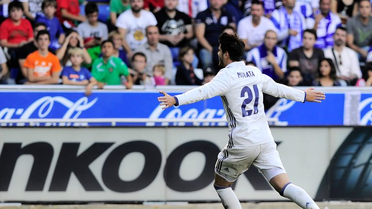 Substitute Alvaro Morata scored his ninth goal of the season to stay Real Madrid's top scorer