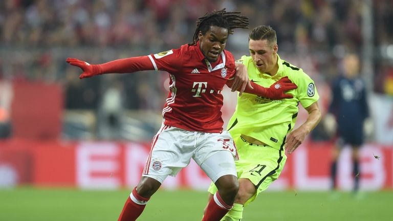 Sanches on a rare appearance for Bayern Munich last season