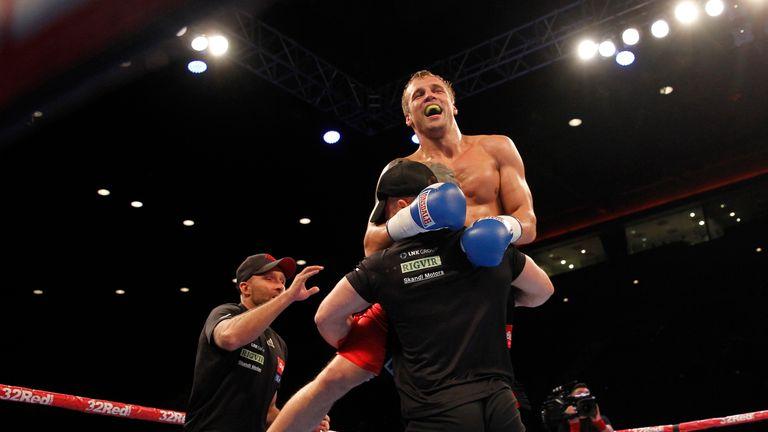 Mairis Briedis celebrates victory