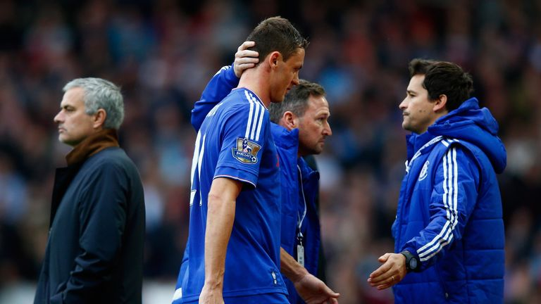 Jose Mourinho was furious after Chelsea had Nemanja Matic sent off against West Ham