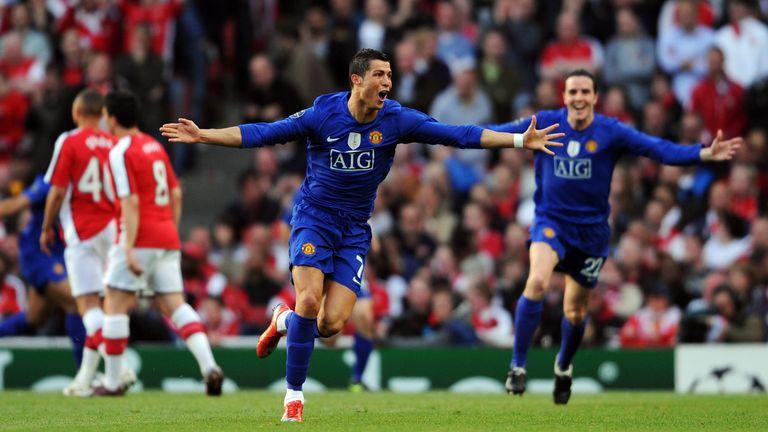 Cristiano Ronaldo scored twice as Man Utd beat Arsenal in the Champions League semis
