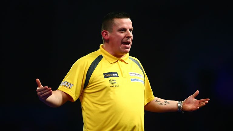 Dave Chisnall lost out in the final to Van de Pas