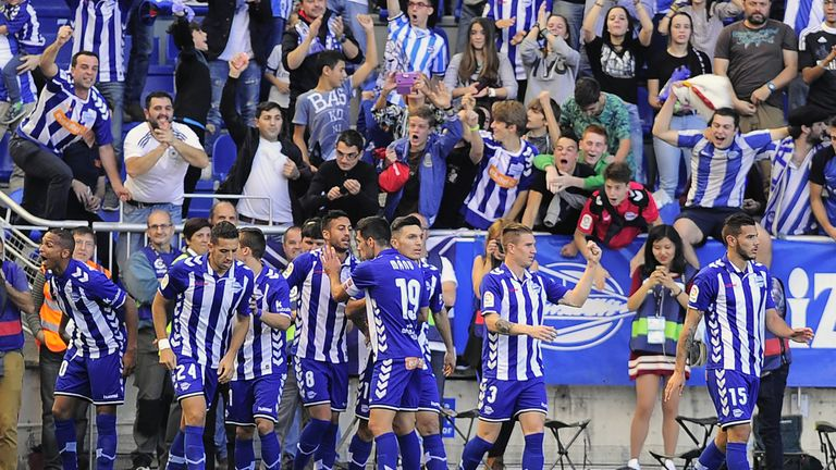 Alaves' Deyverson gave the home side the lead after just seven minutes