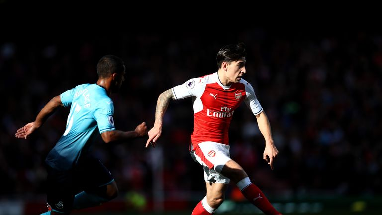 Bellerin has played every minute of Arsenal's Premier League season so far