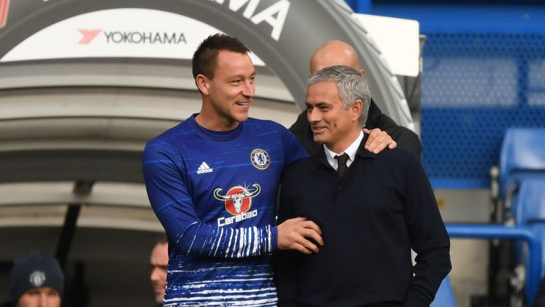 Terry has always enjoyed a special relationship with Jose Mourinho