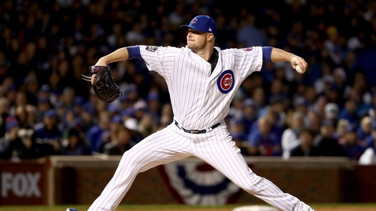Jon Lester took the win after yielding two runs on four hits