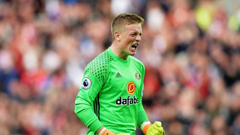 Pickford has been called up to England's senior side for the first time