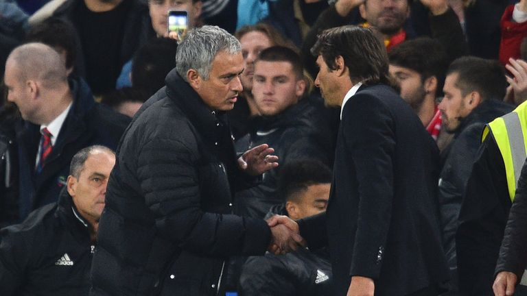 Mourinho angrily accused Conte of 'humiliating' him with the score at 4-0