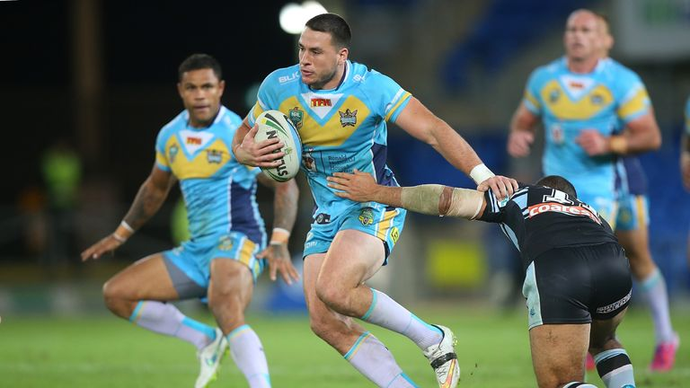 Lachlan Burr in action for the Gold Coast Titans