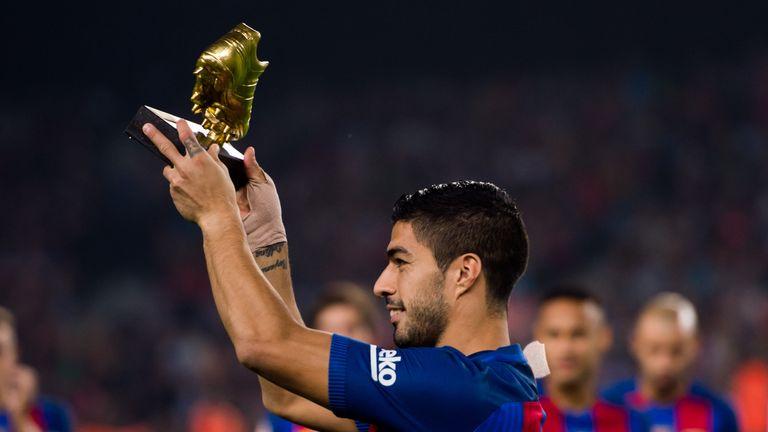 Luis Suarez beat Cristiano Ronaldo to the European Golden Shoe award last season