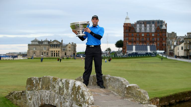Wilson celebrates after winning the 2014 Dunhill Links Championship