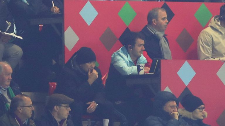England coach Eddie Jones was in attendance at the Stoop