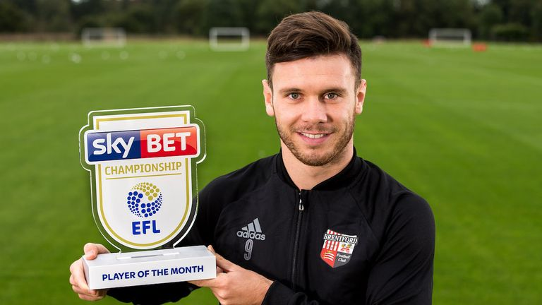 Scott Hogan scored six goals in five games in September. (Pic: Robbie Stephenson/JMP)