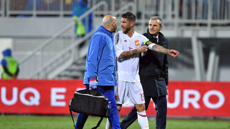 Real captain Sergio Ramos misses the trip to Betis through injury