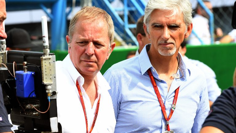 Hill (Right) joined Sky Sports as an F1 commentator in 2012