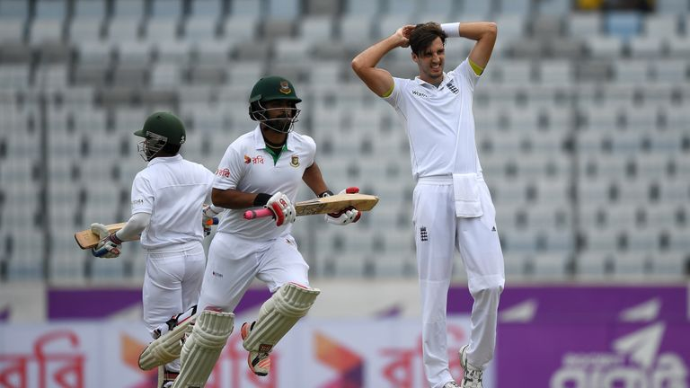Steven Finn went wicketless in Dhaka after being recalled to the Test team