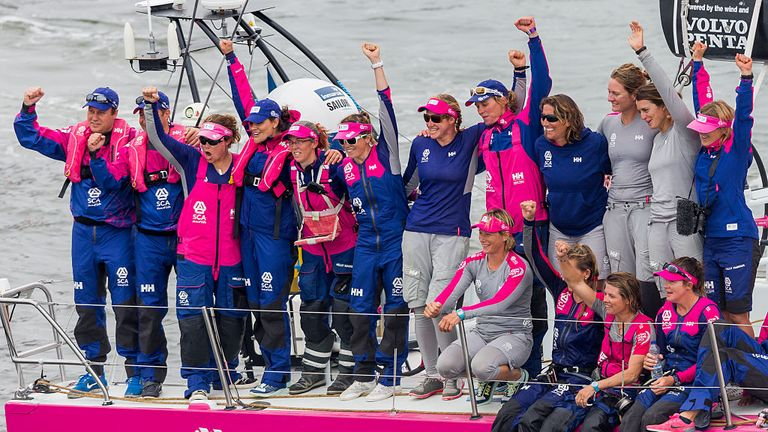 The all-female Team SCA competed in the last edition of the Volvo Ocean Race