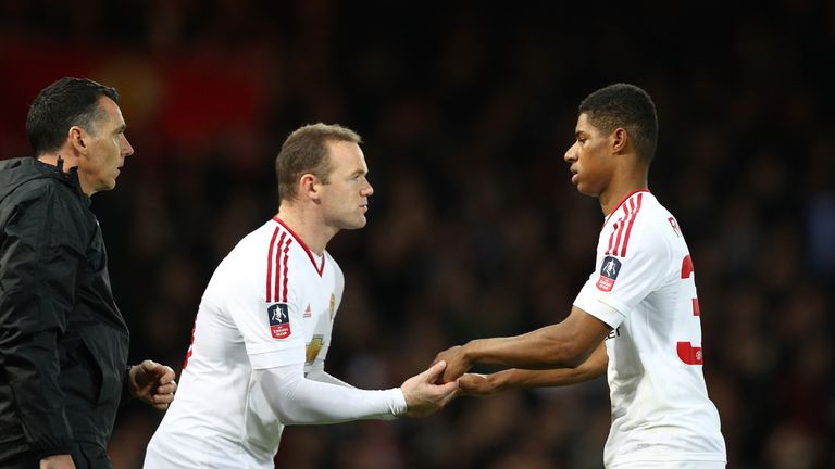 Rashford has started ahead of Rooney for Manchester United in recent weeks