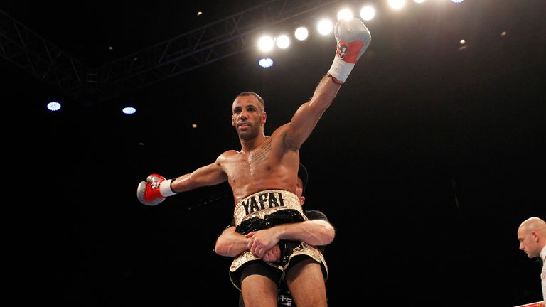 Yafai celebrates and can now look forward to a world title fight in December