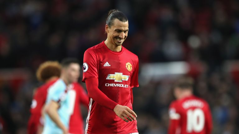 Zlatan Ibrahimovic missed a string of chances against Burnley