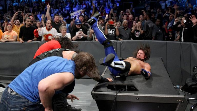 AJ Styles felt The Shield's force at Survivor Series